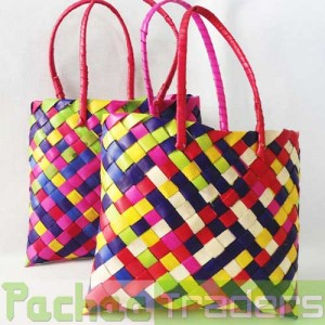Panai Olai Palm Leaf Sewing Purse With Handle