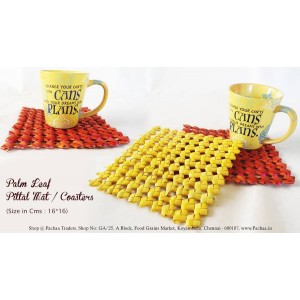 Panai Palm Leaf Peetal Mat Coasters