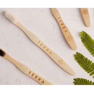 Bamboo Tooth Brush - Adult White (வெள்ளை பற்குச்சி) W