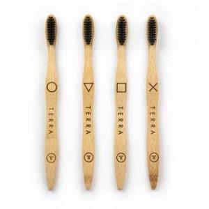 Bamboo Tooth Brush - Adult Black (கருப்பு பற்குச்சி) W