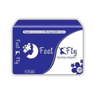 Feel Fly Organic Biodegradable Sanitary Napkins 6 Pads