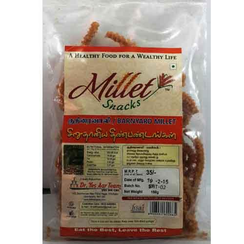 Millet Namkeen Snack - Barnyard Kuthiraivali Murukku 90g